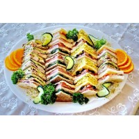 Platter of 7 Sandwiches cut into quarters